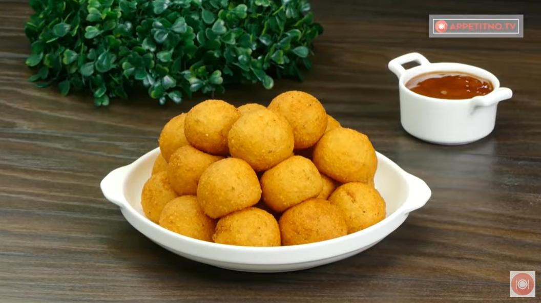Бюджетная закуска: сырные шарики во фритюре