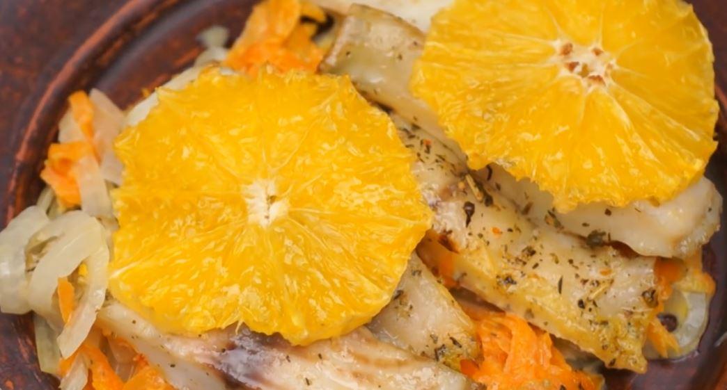 Новогодний рецепт рыбы с апельсинами