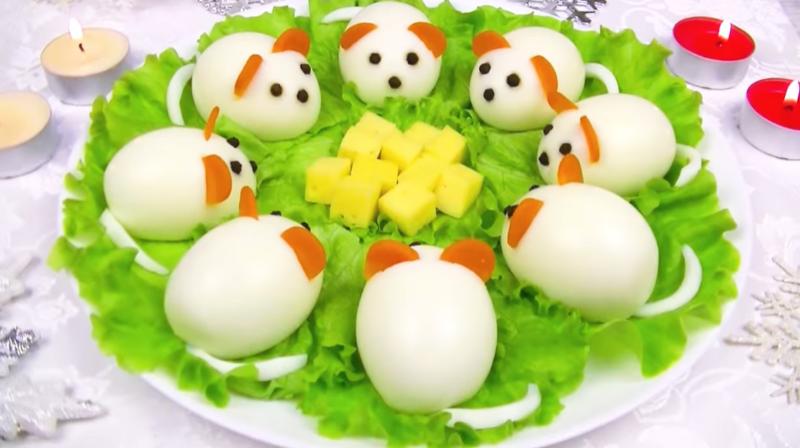 Новогодняя закуска «Милые мышки»
