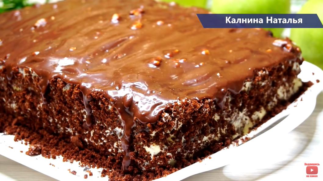 Вкусный десерт за пару часов: шоколадный пирог без пропитки