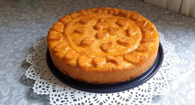 Два фрукта в одном пироге: ароматное грушевое песочное «чудо»  с яблочным повидлом. И без дрожжей.