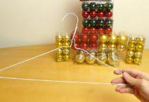 Превращение сломанной вешалки в рождественский венок