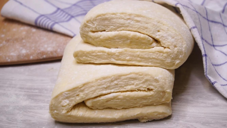 """""""Ленивое"""" слоеное тесто «на пустой стакан» - очень простой рецепт"""