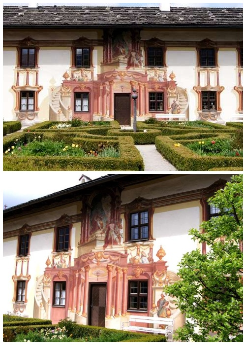 Расписная деревушка в Баварии, где каждый дом - настоящее произведение искусства
