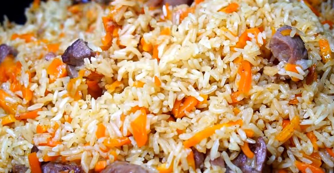 Рис со свининой или плов по-домашнему
