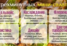 Шесть мини-салатов на скорую руку