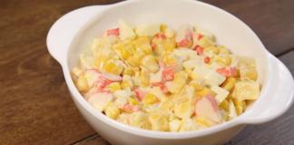 Салат «Трехминутный» – минимум затрат и максимум удовольствий