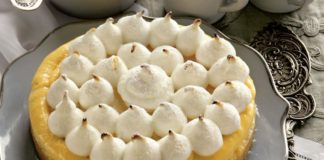Лимонный пирог с итальянской меренгой