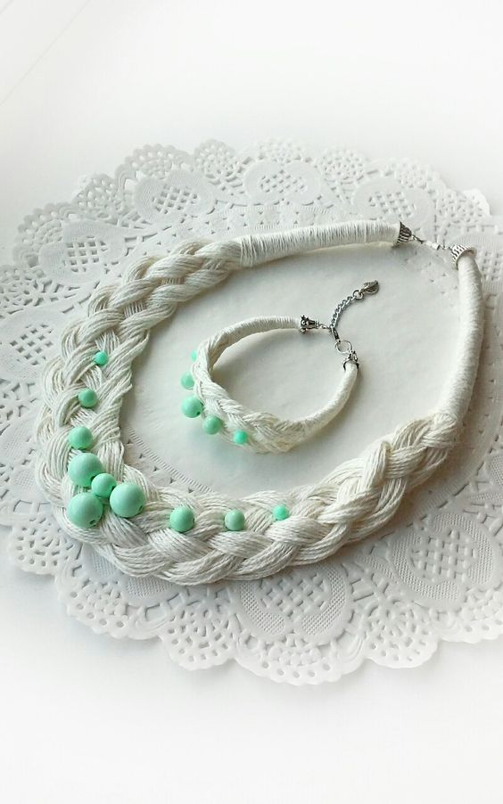 Стильные и красивые бохо-украшения из обыкновенной льняной нити