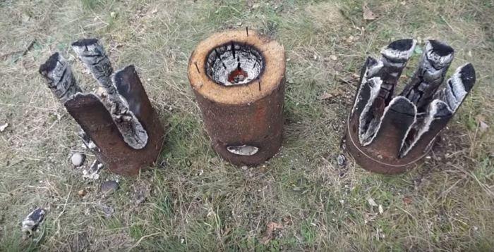 Как сделать финскую свечу: три простых способа для любителей отдыха на природе