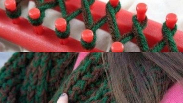 Как с помощью ручного станка соткать шарф за 40 минут