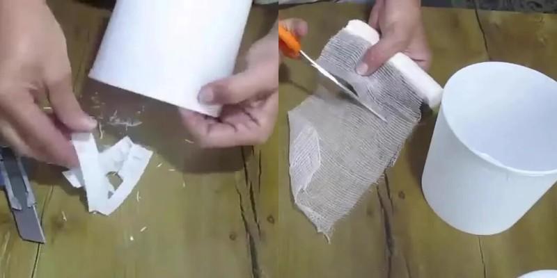 Вторая жизнь пластиковых ведерок из-под майонеза