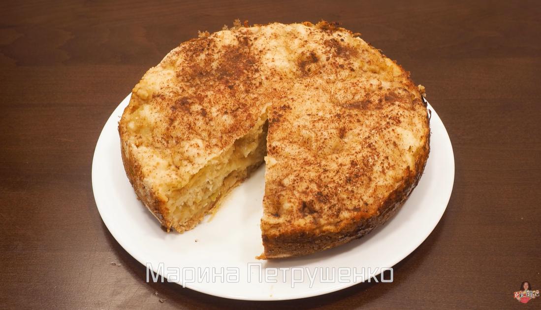 Яблочный насыпной пирог: рецепт