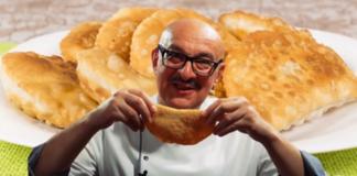 Как готовит крымские чебуреки Сталик Ханкишиев