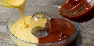 Как приготовить двухцветный шоколадно-ванильный кекс