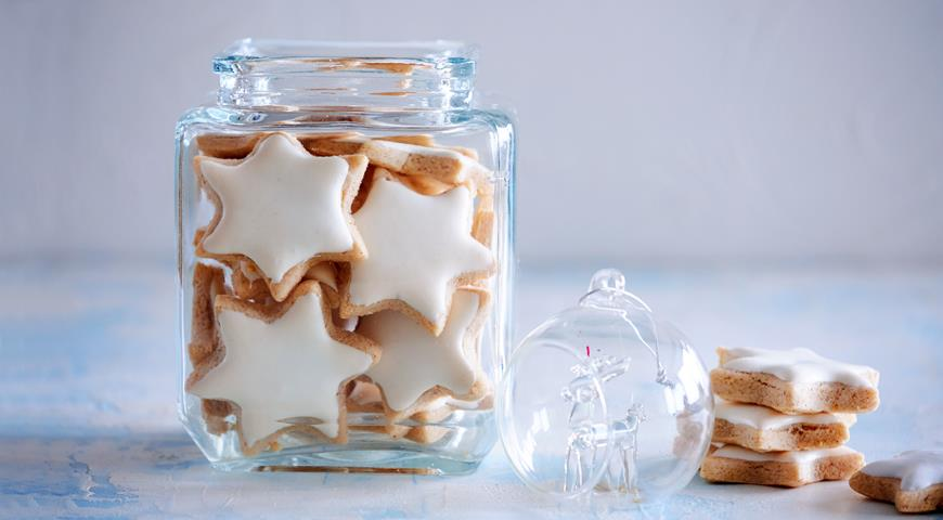 Немецкое корично-миндальное печенье Zimtstern