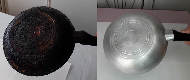 Как очистить сковородку десятилетней давности