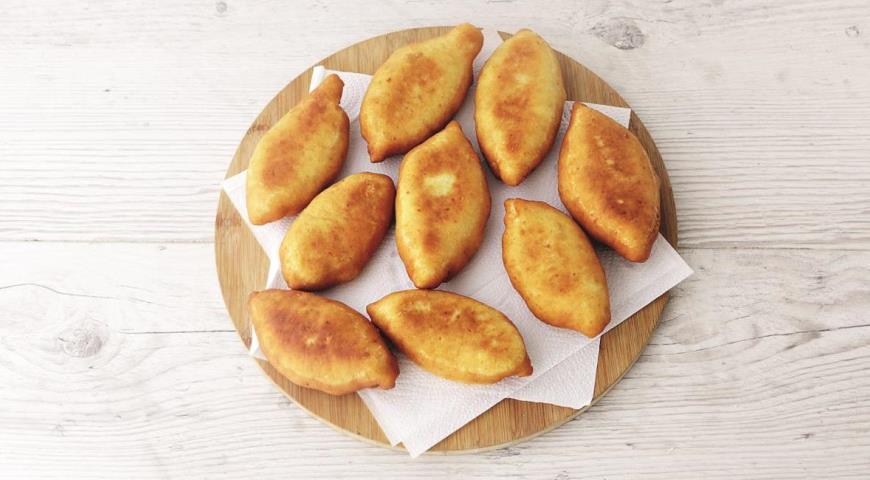 Пирожки с рисом и горбушей