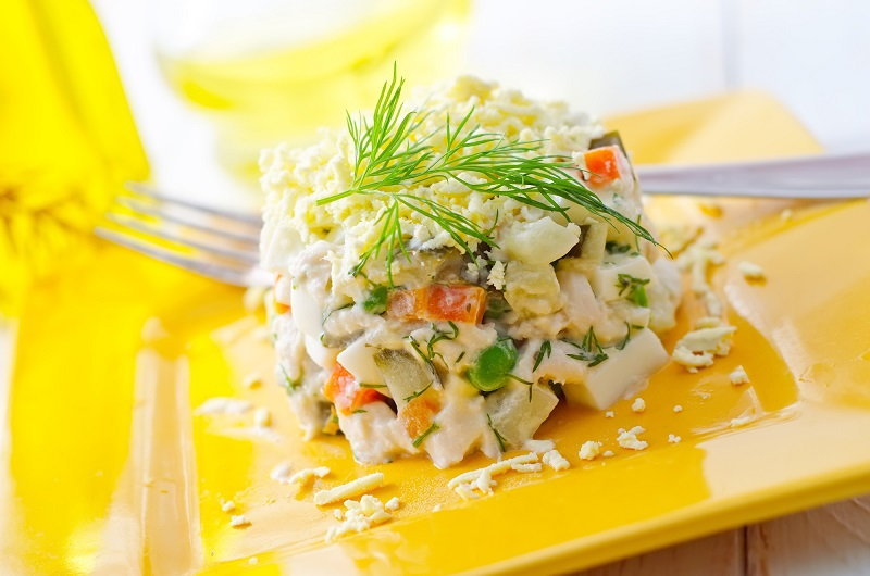 Рецепты салатов с печенью трески