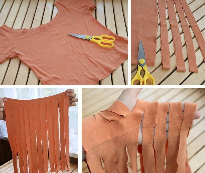 Как смастерить уютный коврик из старых футболок