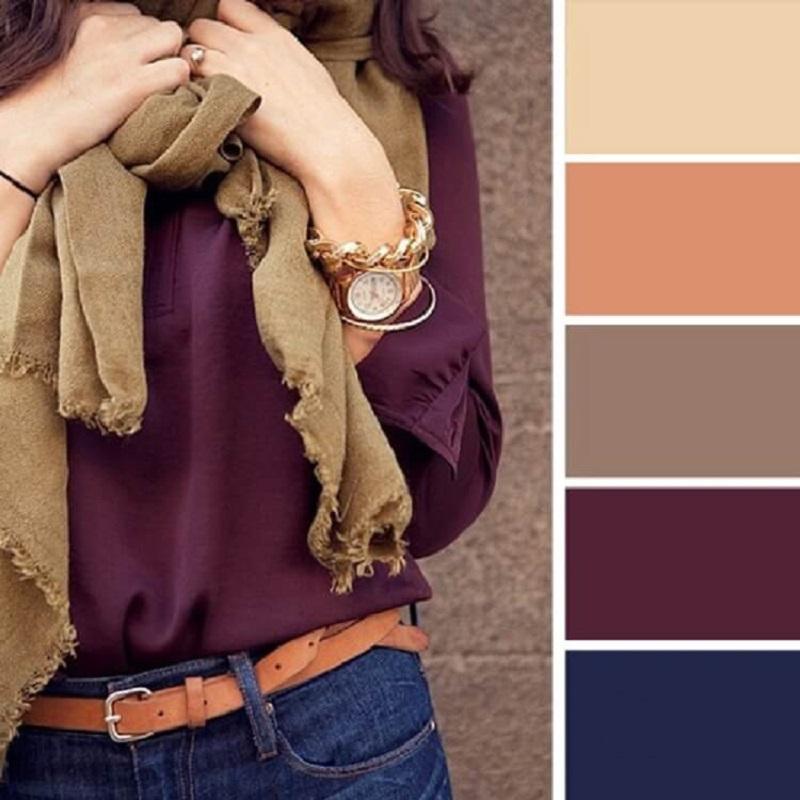 Как научиться сочетать цвета в одежде
