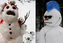 20 идеи того, как еще можно слепить снеговика