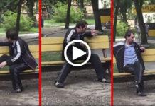 Пьяный Алкаш Безнаказанно Терроризировал Детскую Площадку, Пока Не Подошел Это Парень…