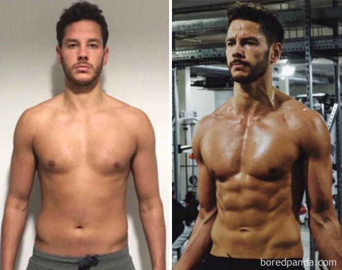 фитнес до и после фото мужчины появилась