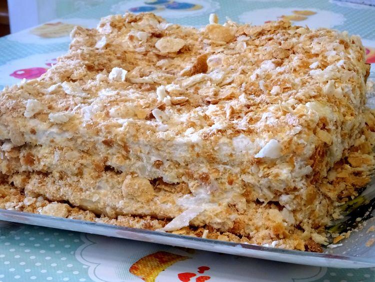 """""""Наполеон"""" с ветчиной и ананасом - торт закусочный Новогодний"""
