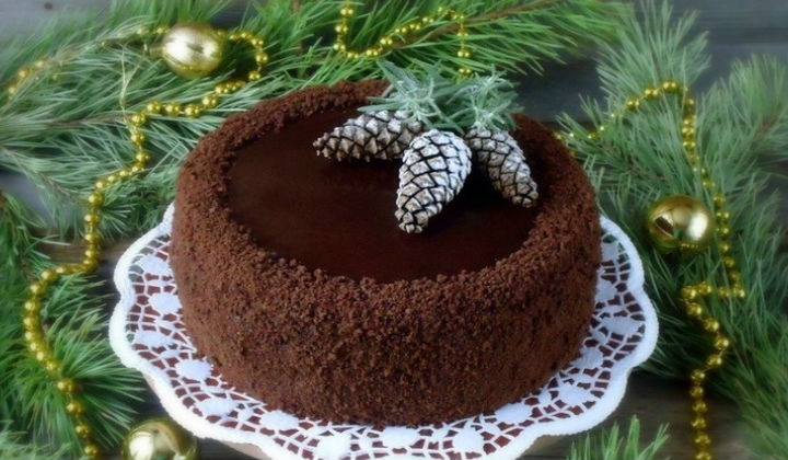 Торт на Новый год. Рецепты как приготовить и украсить новогодний торт.