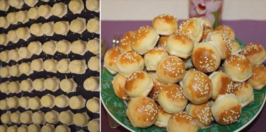 Закусочные пирожки-малютки, делаю 100 штук за 20 минут. Замораживаю, в случае неожиданных гостей быстренько выпекаю.