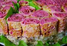 Рецепт салата «Букет роз»