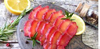 Гравлакс со свёклой или солёный лосось по-скандинавски