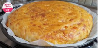 Сырная лепешка с хрустящей корочкой