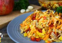 Новый вкус, неповторимая кислинка: сочный и свежий салат с гранатом и корейской морковкой – готов за считанные минуты