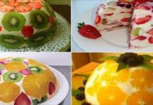 Церемония угощения фруктовыми тортами без выпечки