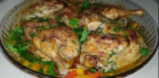 Цыпленок корнишон с тыквой – роскошный ужин для гурманов