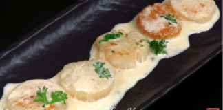 Морские Гребешки в сливочном соусе