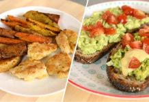 Идеальный обед для ребенка: куриные наггетсы с овощами и тосты с авокадо и домашним майонезом