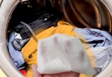 Зачем бросать в стирку влажную салфетку