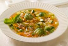 Овощной супчик с рисом и брюссельской капустой