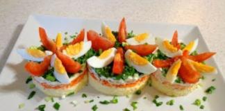 Яйца, курица, морковь… Вкусный салат всего из 3-ех ингредиентов.
