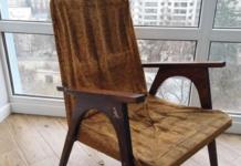 Реставрация старого кресла из семидесятых