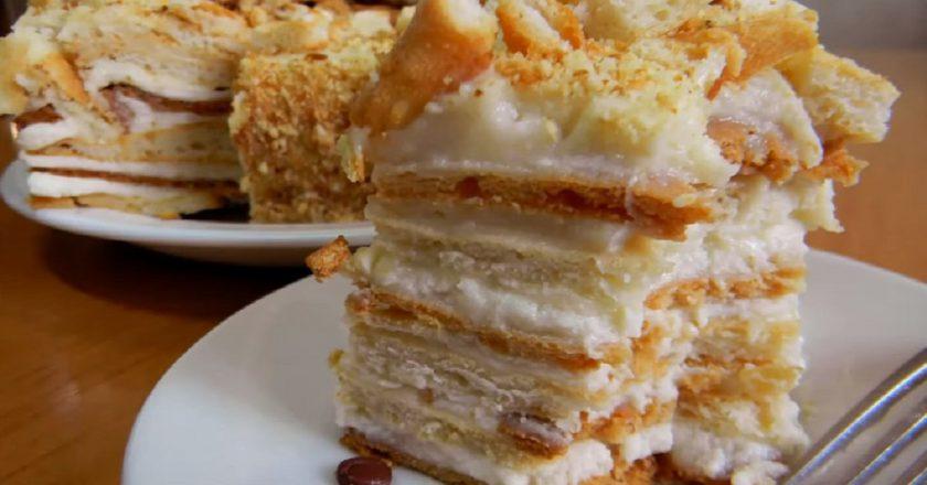 Рецепт армянского варианта любимого «Наполеона»: торт «Эгине» на творожной основе