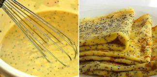 Способ приготовления тонких лимонно-маковых блинчиков. Хороши даже без начинки, сметаны и варенья.