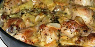 Как легко приготовить сочнейшую сливочную курицу в духовке: в чём маринуешь, в том и запекай!
