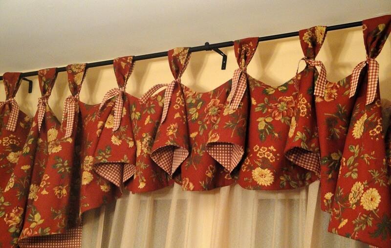 Самостоятельный пошив кухонных штор