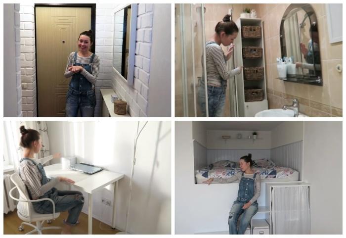 Девушка собственными руками превратила крошечную «хрущевку» в современную и стильную квартиру