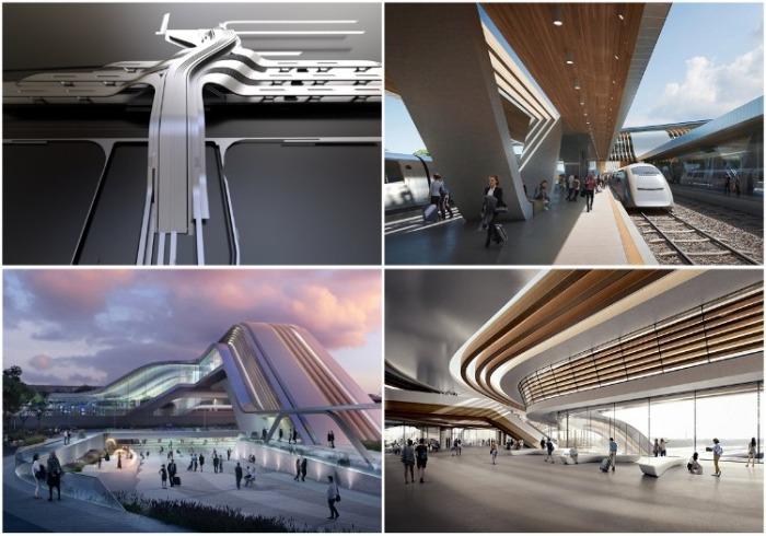 Архбюро Захи Хадид построит вокзал для Эстонии, который напомнит кадры из фантастического фильма