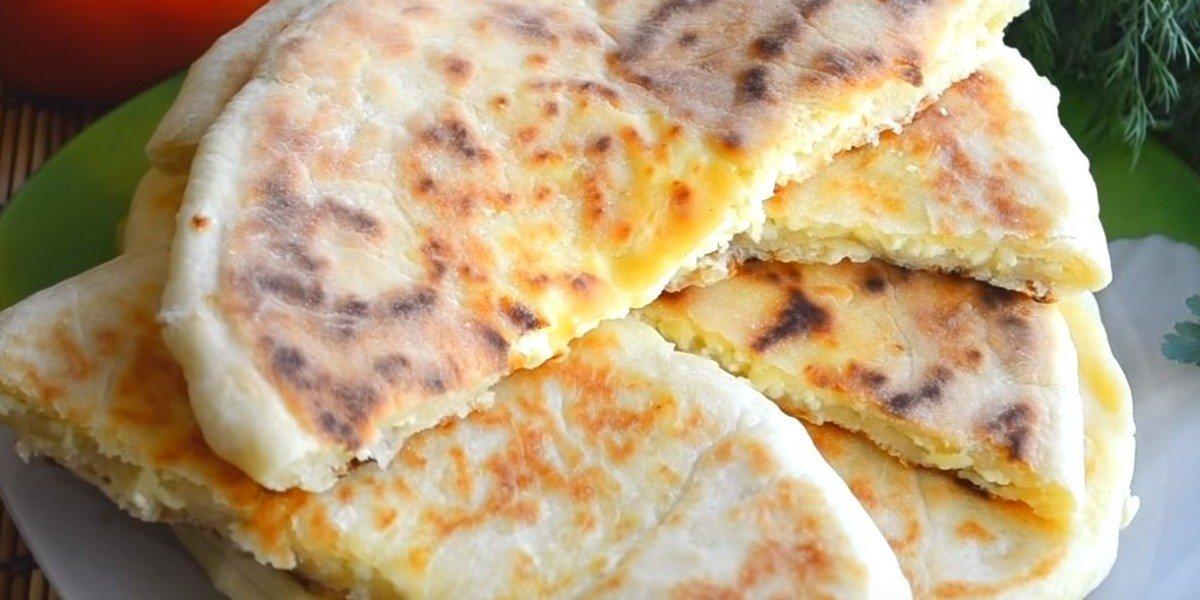 Рецепт хачапури с сырной начинкой